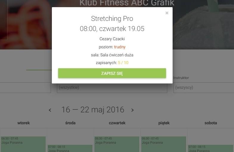Jak klienci zapisują się na zajęcia poprzez serwis FitPlanner.pl?