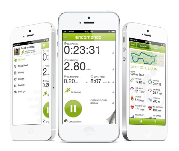 Aplikacja fitness Endomondo