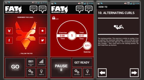 Aplikacja fitness Fat Burner HardFox