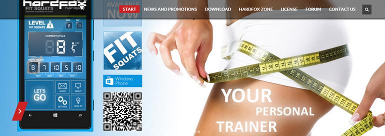 Aplikacja fitness dla kobiet HardFox