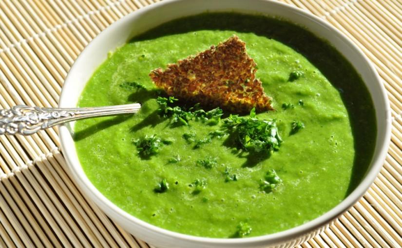 Zupa krem z brokułów i zielonego groszku – 83kcal
