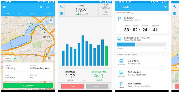 Aplikacja fitness Runkeeper dla biegaczy
