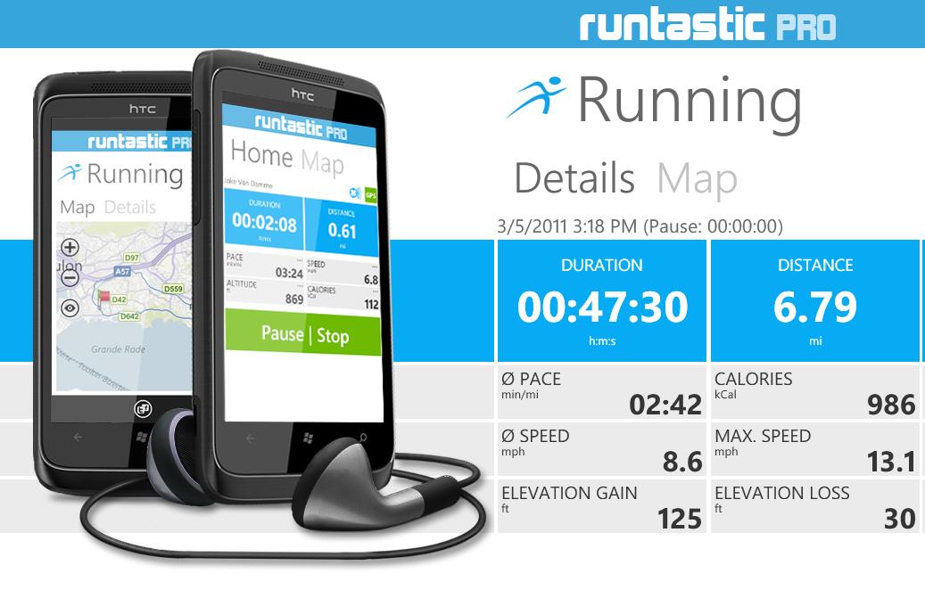 Aplikacja fitness Runtastic PRO dla biegaczy