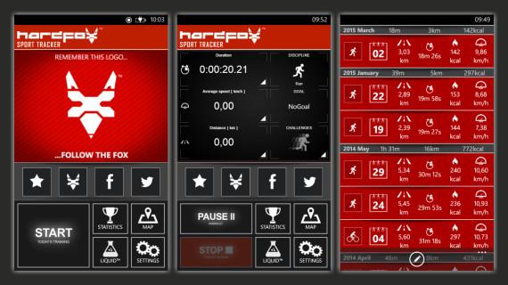 Aplikacja fitness Sport Tracker HardFox