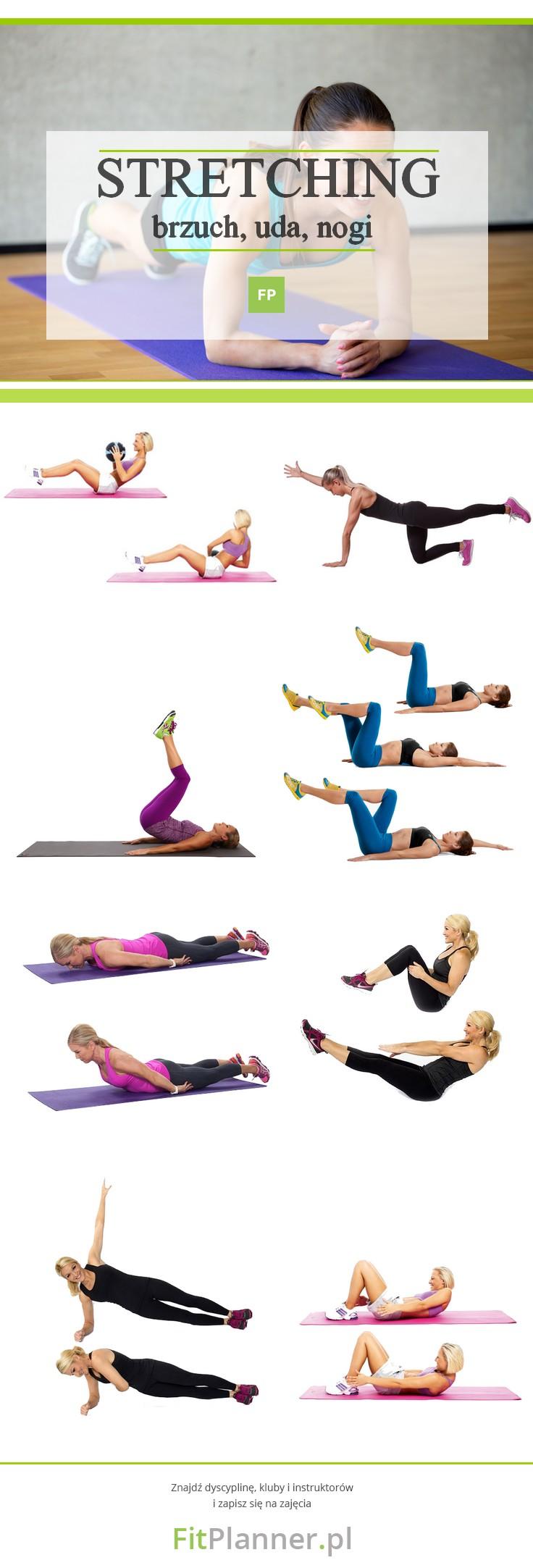 Stretching - ćwiczenia rozciągające na brzuch, uda, nogi i pośladki