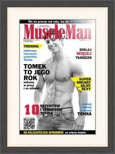 Okładka Muscle Man obramowana