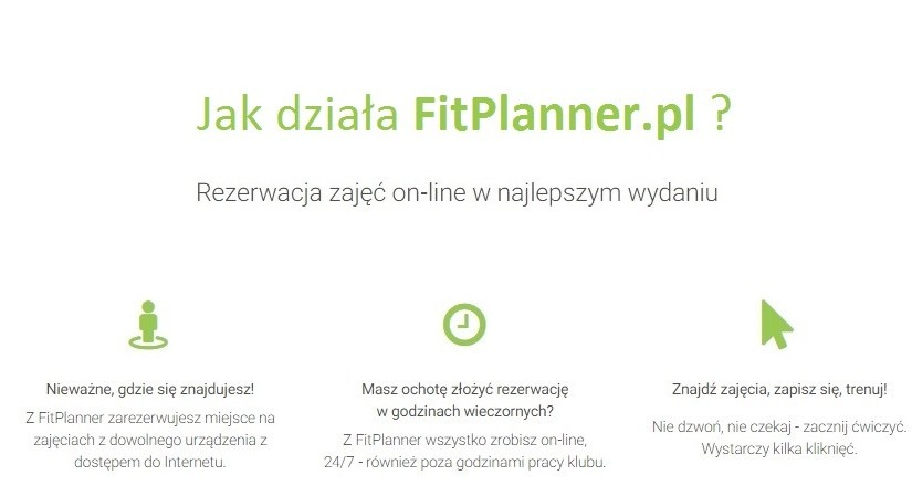 Zapisy na zajęcia on-line – jak działa FitPlanner?